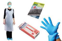 This is an image that displays a selection of protection and cleaning products