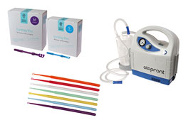 This is an image that displays a selection of Cerumen management and fitting products